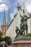 San Jorge y Dragon Berlin Imagen de archivo libre de regalías