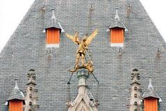San Jorge y el dragón Fotografía de archivo libre de regalías