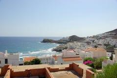 San Jose. Panorama of the San Jose village, Almeria, Spain Royalty Free Stock Images