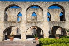 San Jose beskickning i San Antonio texas arkivbilder