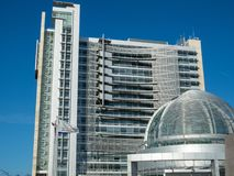 The high-rise and dome of San Jose City Hall. stock images