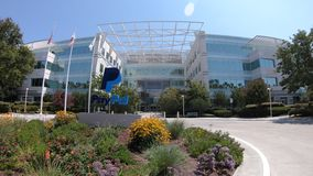 san jose ca united states august flags of paypal headquarters in silicon valley paypal is a multinational corporation a virtual stock video