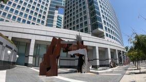 Adobe Headquarters sculpture stock video