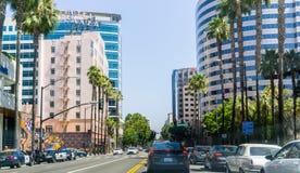 Urban landscape in San Jose, California stock photography