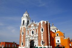 San Jose church. Central church of san jose, located in the city of tlaxcala in the mexican state of tlaxcala Royalty Free Stock Photography