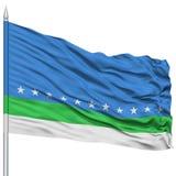 San Jose City Flag sur le mât de drapeau Photographie stock libre de droits