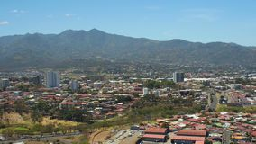 San Jose Costa Rica Aerial stock video