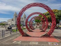 Monument in centre of San Jose of Costa Rica royalty free stock images