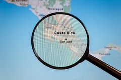 San Jose Costa Rica e-?versikt politisk u royaltyfria bilder