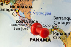 San Jose, Costa Rica pinned map Stock Photo