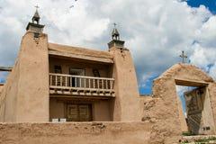 San Jose de Gracia Church in Las Trampas, New Mexiko Lizenzfreie Stockfotos