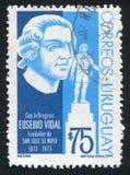 San Jose de Mayo by Eusebio Vidal. URUGUAY - CIRCA 1974: stamp printed by Uruguay, shows San Jose de Mayo by Eusebio Vidal, circa 1974 Stock Image