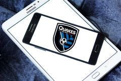 San Jose Earthquakes Soccer Club logo stock images