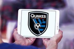 San Jose Earthquakes Soccer Club logo. Logo of San Jose Earthquakes Soccer Club on samsung tablet . San Jose Earthquakes are an American professional soccer team Royalty Free Stock Photos