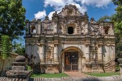San Jose el Viejo ruins, Antigua, Guatemala. Facade of San Jose el Viejo chapel ruins in colonial city & UNESCO World Heritage Site of Antigua royalty free stock image