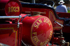 San Jose Fire Museum Vintage Engine an einem Car Show Stockfotos
