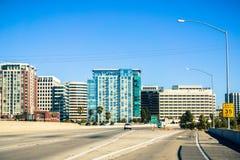 San Jose horisont, Silicon Valley, Kalifornien Fotografering för Bildbyråer