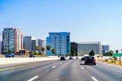 San Jose i stadens centrum horisont arkivbild