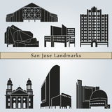 San Jose landmarks and monuments Stock Image