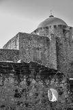 San Jose Mission in Black and White Royalty Free Stock Photo