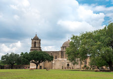 San Jose mission in San Antonio texas. This Mission was built with five other missions to help keep the French from settling into the area of San Antonio, at the Stock Photography