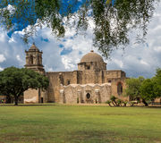 San Jose mission in San Antonio texas. This Mission was built with five other missions to help keep the French from settling into the area of San Antonio, at the Stock Image