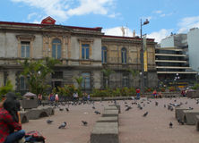 San Jose National Theater, Costa Rica. A view of the national theater in San Jose de Costa Rica Royalty Free Stock Photos