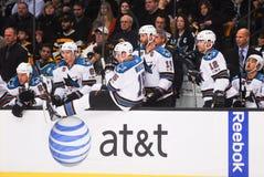2010-11 San Jose Sharks Bench.  stock photo