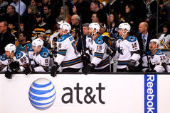 San Jose Sharks bench Royalty Free Stock Image