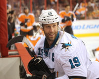 San Jose Sharks Captain Joe Thornton Royalty Free Stock Photo