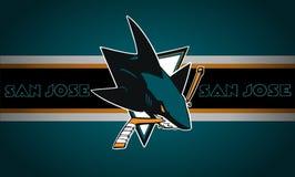 San Jose Sharks logo.NHL. royalty free illustration
