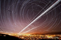 San Jose Sky Trails Stock Photo