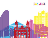 San Jose skyline pop. In editable vector file royalty free illustration