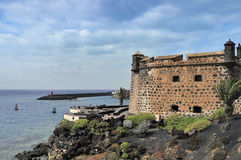 Castillo de San Jose, Arrecife royaltyfria bilder