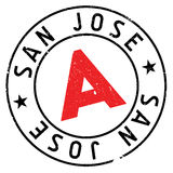San Jose stamp Royalty Free Stock Photos
