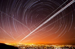 San Jose Star Trails Royalty Free Stock Images
