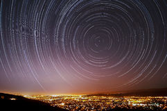 San Jose Star Trails Royalty-vrije Stock Afbeeldingen