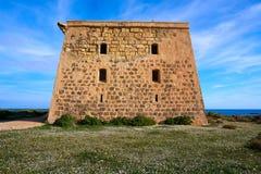 San Jose torn i den Nova Tabarca ön Spanien royaltyfri fotografi