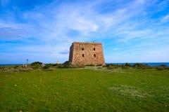 San Jose torn i den Nova Tabarca ön Spanien royaltyfria bilder