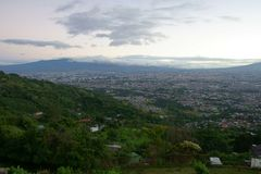 San Jose - widok nad miastem na chmurnym ranku fotografia royalty free