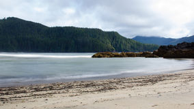 San Josef Bay. Surf at San Josef Bay on a cloudy day Royalty Free Stock Image