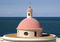 San Juan 2. Roof of the chapel in famous cemetery in San Juan Royalty Free Stock Photography
