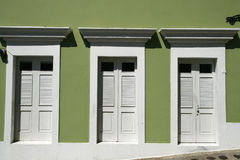 San Juan - 3 Doors In Old San Juan Stock Photo