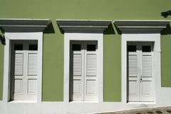 San Juan - 3 Türen in altem San Juan Stockfoto