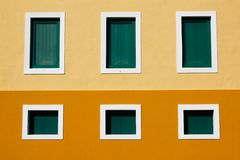 San Juan - 6 Window Caribbean Colored Architecture Stock Image