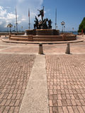 San Juan. Puerto Rico, famous fountain in the back Stock Photography