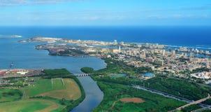 San Juan aerial view royalty free stock images