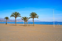 San Juan of Alicante beach playa Spain royalty free stock image
