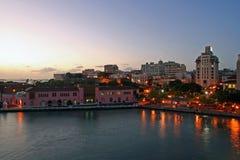 San Juan alla notte Fotografia Stock