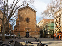 San Juan Baptist de Gracia Church   in Barcelona Royalty Free Stock Image